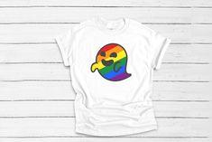 Gaysper shirt, ghost T-shirt, Gay T-shirt, white shirt with gay ghost design, gay t-shirt, anti fascism tee
