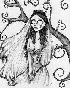 Fan Art Corpse Bride Tim Burton Style
