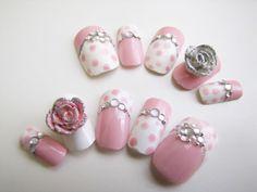 gyaru nails   http://cgi.ebay.com/Japanese-Gyaru-Kawaii-3D-Bling-Nails-Polkdots ...