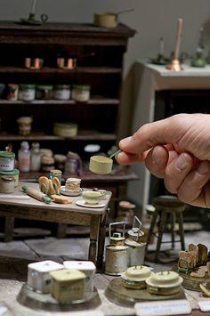 miniature old kitchen