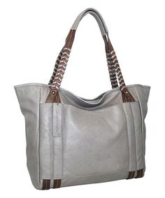 Look what I found on #zulily! Stone Large Whip It Leather Tote #zulilyfinds