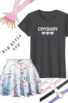 b137b9c72 Crybaby Pastel Goth Fashion T-Shirt  pastelgoth  goth  emotional  emo   emotshirt  gothstyle Amazon Prime t-shirt