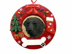 ES Pets Labrador Chocolate Personalized Christmas Ornament *** See this great product.