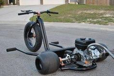 Mini bike diy drift trike Ideas for 2020 Custom Moped, Custom Paint Motorcycle, Custom Trikes, Custom Choppers, Custom Vans, Trike Motorcycle, Motorcycle Types, Motorcycle Travel, Trike Bicycle