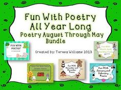 Fun With Poetry All Year Long Bundle Pack