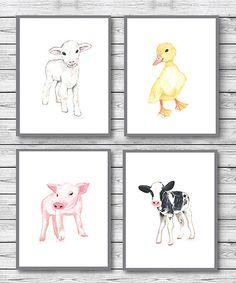 Ellen Crimi-Trent Baby Farm Animals Print - Set of Four | zulily