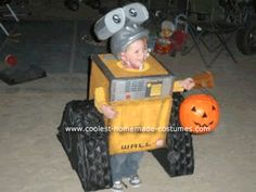 Homemade Wall E Child Costume: My almost 3 year old son loves the Disney movie Wall E and wanted to be him for Halloween this year. My husband and I, therefore, embarked on the task Halloween Costume 2 Year Old, Modest Halloween Costumes, Family Costumes, Disney Halloween, Halloween Cosplay, Fall Halloween, Halloween Ideas, Halloween Stuff, Wall E Costume