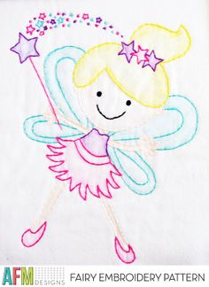 Fairy Embroidery Pattern $5.00
