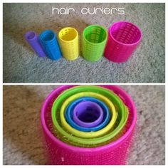 Quiet lap activities for traveling with a toddler: HAIR ROLLERS