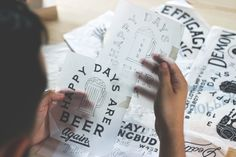 /// Happy Days are Beer Again - handlettering and illustration