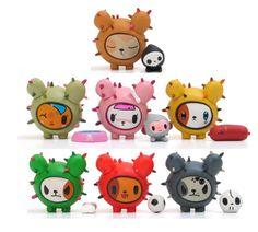 Tokidoki Cactus Pups Set of 7 NEW Vinyl Toy - moofia unicorno