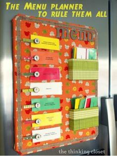 This is definitely my next project. The Menu Planner to Rule Them All via The Thinking Closet