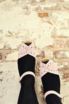 Up close and personal with some pink Savannah clogs.