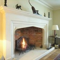 Incredible Natural Stone Fireplace - take a peek at our page for much more tips! Stone Fireplace Surround, Inglenook Fireplace, Fire Surround, Concrete Fireplace, Fireplace Design, Georgian Fireplaces, Natural Stone Fireplaces, Rock Fireplaces, Cantilever Stairs