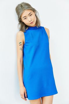 Cooperative Textured Funnel Shift Dress