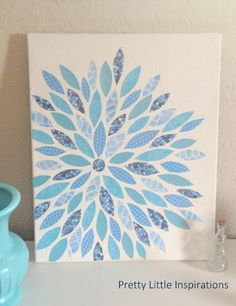 PrettyLittleInspirations: DIY Canvas & Paper Art