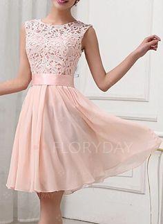 Dresses - $56.99 - Chiffon Solid Sleeveless Knee-Length Elegant Dresses (1955123891)