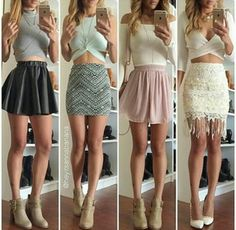 Cute outfits, outfits for teens, skirt outfits, cute dresses, girls dresses Summer Dress Outfits, Mom Outfits, Skirt Outfits, Outfits For Teens, Spring Outfits, Outfits 2016, Party Outfits, Trendy Dresses, Cute Dresses