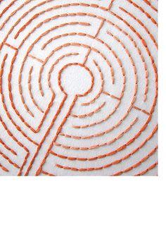Labyrinth embroidery pattern
