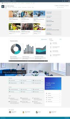 Sharepoint Design, Sharepoint Intranet, Responsive Web Design, Microsoft, Free, Templates, Modern, Printables, Stencils