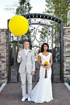 I think that grey and yellow are one of the classical schemes for wedding decor – colorful and elegant. Such a color scheme is ideal for a spring wedding when you are tired of winter and want colors so much, or for a bright summer wedding . Yellow Grey Weddings, Gray Weddings, Yellow Wedding, Floral Wedding, Wedding Colors, Dream Wedding, Summer Weddings, Perfect Wedding, Trendy Wedding