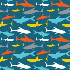 140184777c8 Peek-a-Boo Pattern Shop - Swim Shop Sharks UV 50 Swim Fabric,