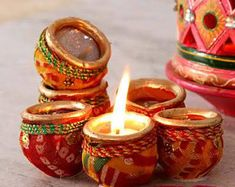 Diwali Diya, Diwali Craft, Diwali Gifts, Diya Designs, Rangoli Designs, Diy Diwali Decorations, Festival Decorations, Diy Wall Art, Wall Art Decor