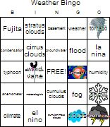 Generate and Print Bingo Cards with Bingo Baker Free Bingo Card Generator, Free Bingo Cards, Cumulonimbus Cloud, Cirrus Cloud, Play Online, Holiday Parties, Weather, Clouds