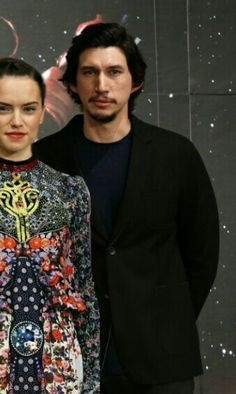 Daisy Ridley with Adam Driver