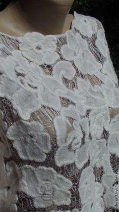 Кофты и свитера ручной работы. Заказать Блуза в технике Шерстяное Ришелье. Леди Крафт. Ярмарка Мастеров. Леди Крафт,…