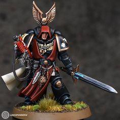 Warhammer Dark Angels, Dark Angels 40k, Warhammer 40k Figures, Warhammer Models, Warhammer 40k Miniatures, Warhammer 40000, Warhammer Art, Angel Of Vengeance, Angel Of Death