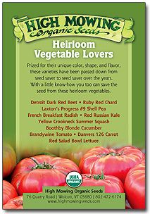 Heirloom Vegetable Lover's Seed Collection