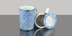 Mug Cylinder Dragonfly Blue