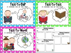 Great Text Connections posters for the classroom