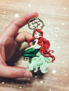 #ariel #mermaid #disney  #fimo #polymerclay #cutejewelry #handmade #handmadejewelry #key #glitter #necklace #lecreazionidifranzin #sirenetta #sea #beach #like #like4like #lecreazionidifranzin #creations #lasirenetta