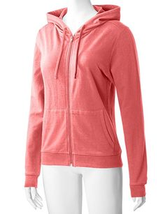 f8ea18a888 Regna X Women s Long Sleeve Knitted Casual Cotton Zip up Hoodie Jacket  Coral L at Amazon