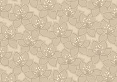 Diseño de flores en este papel pintado de la colección Saphyr II de Grandeco.