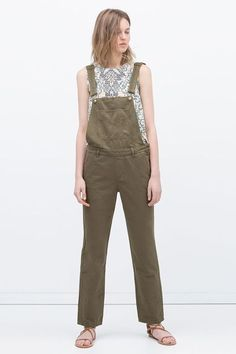 19 Reasons We're Still Obsessed With Overalls #refinery29  http://www.refinery29.com/overalls-trend#slide-7  Because it ain't easy being green — but, at least this pair makes it better.