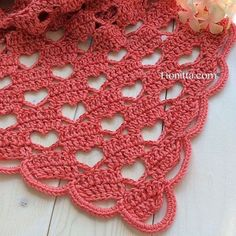 A Hearty Hello Lacy Crochet Shawl free crochet tutorial Poncho Crochet, Crochet Diy, Crochet Shawls And Wraps, Love Crochet, Crochet Scarves, Crochet Crafts, Crochet Projects, Beau Crochet, Crochet Heart Blanket