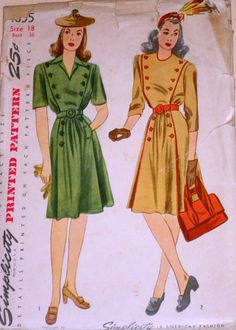 Vintage 1940's Simplicity 4855 Sewing by MemoryMadeMercantile