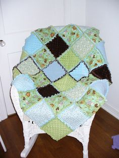 Custom Made Small 36x36 Baby Rag Quilt Made to Order $85.00