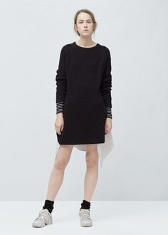 Oversized pullover aus baumwolle - Cardigans und pullover für Damen | MANGO Deutschland
