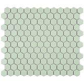 "Found it at Wayfair - Retro 0.875"" x 0.875"" Hex Porcelain Mosaic Tile in Matte Light Green"