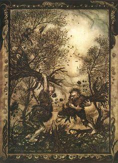 Arthur Rackham illustration Grimm's Fairy Tales: