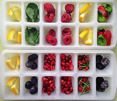 Petite amie #ijsblokjes met fruit en kruiden