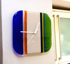 fused glass clocks - Google Search
