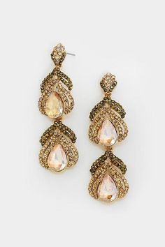 Marie Chandelier Earrings in Champagne on Emma Stine Limited