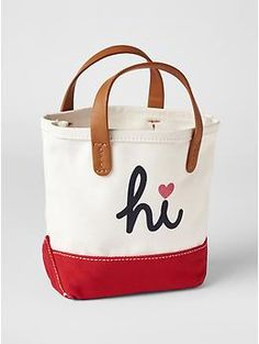 Contrast statement canvas tote for fashion baby