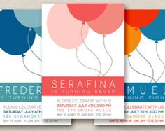 balloon invitations - Google Search