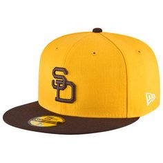 88a96bb8919 San Diego Padres New Era Youth Authentic Collection On-Field Alternate 2  59FIFTY Fitted Hat - Brown Gold